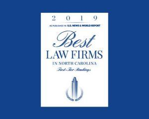 2019 Best Law Firms in North Carolina